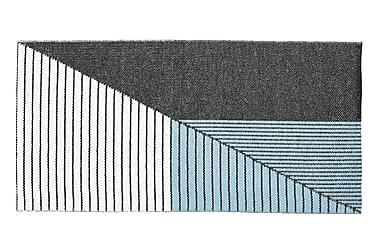 Plastmatta Stripe 70x140 Vändbar PVC Svart/Blå