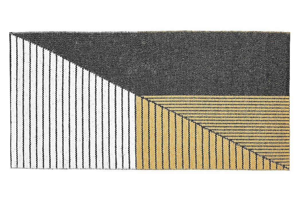 Plastmatta Stripe 70x140 Vändbar PVC Svart/Gul - Horredsmattan - Inredning - Mattor - Plastmattor