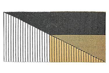 Plastmatta Stripe 70x140 Vändbar PVC Svart/Gul