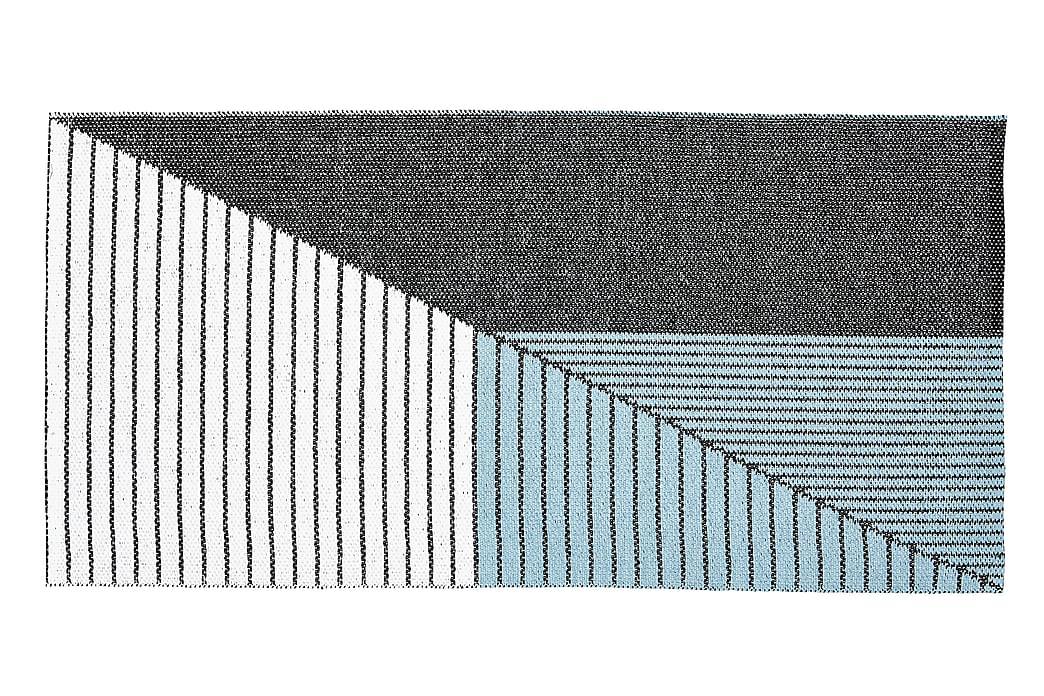 Plastmatta Stripe 70x210 Vändbar PVC Svart/Blå - Horredsmattan - Inredning - Mattor - Plastmattor