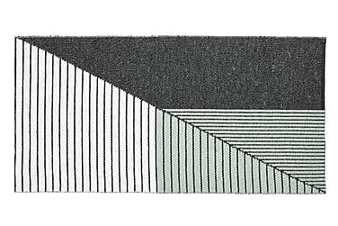 Plastmatta Stripe 70x210 Vändbar PVC Svart/Grön