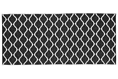 Plastmatta Wave 70x300 Vändbar PVC Svart