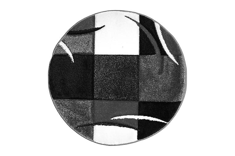 Friezematta London Patch Rund 120 - Svart - Inredning - Mattor - Runda mattor