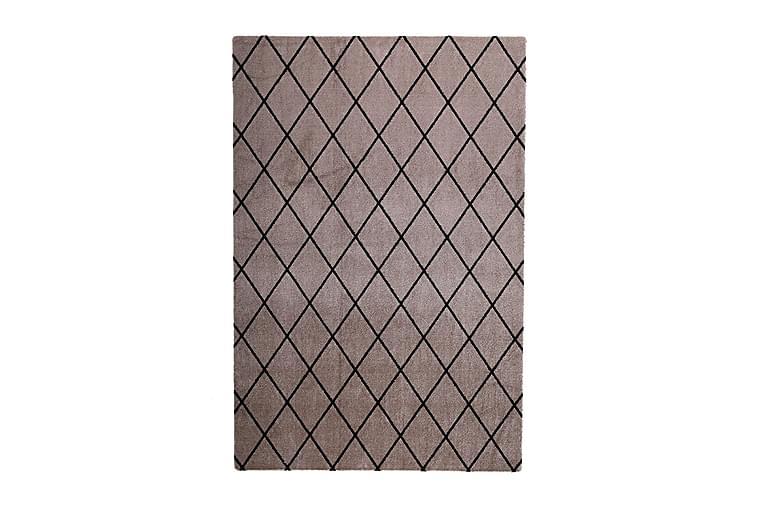 Matta Salmiakki 80x150 cm Beige/Svart - VM Carpets - Inredning - Mattor - Ryamatta