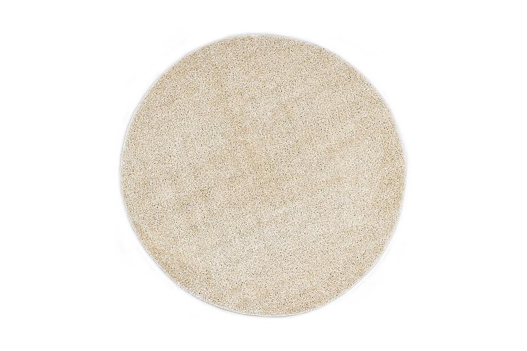Shaggy-matta 120 cm beige - Beige - Inredning - Mattor - Ryamatta