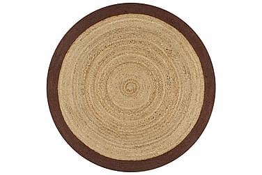 Handgjord jutematta med brun kant 150
