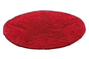 Bomullsmatta Star Rund 70 Vändbar Röd