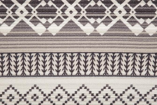 Gummerad Matta Pyramid 133x190 - Svart|Grå - Inredning - Mattor - Små mattor