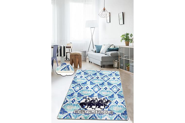 Matta Beverly Hills Polo Club 80x100 cm - Blå/Mörkblå/Vit - Inredning - Mattor - Små mattor