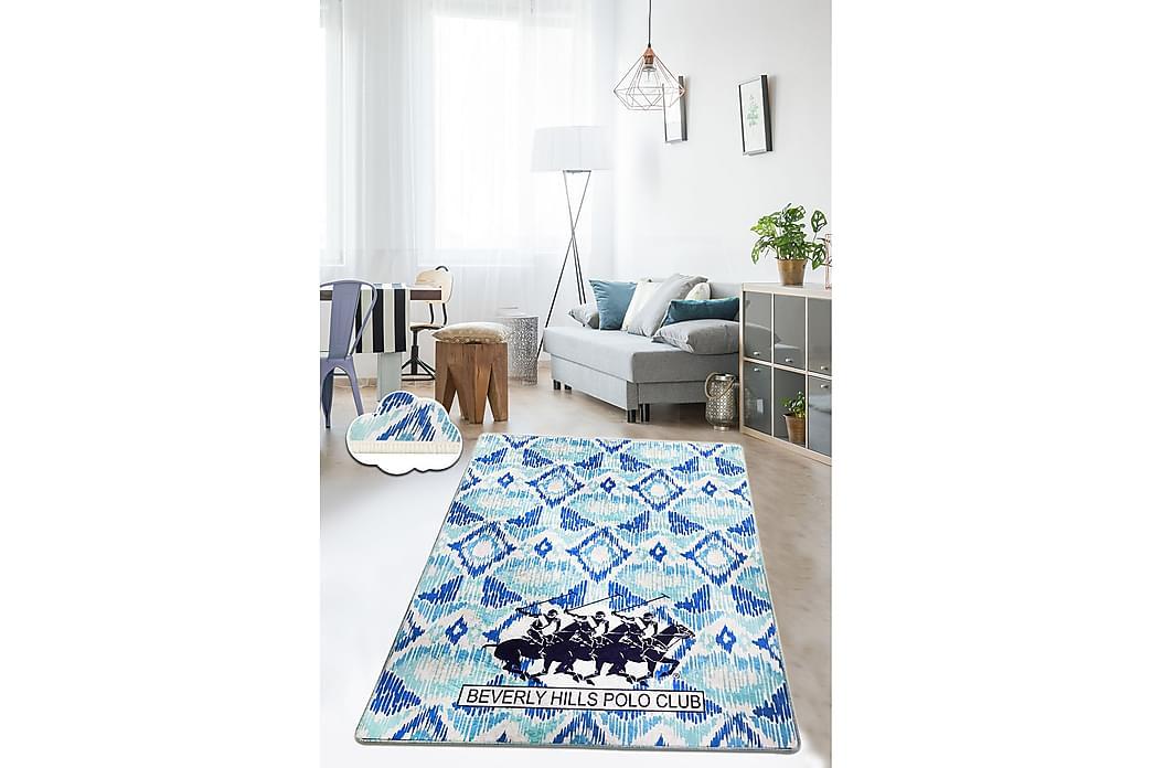 Matta Beverly Hills Polo Club 80x140 cm - Blå/Mörkblå/Vit - Inredning - Mattor - Små mattor