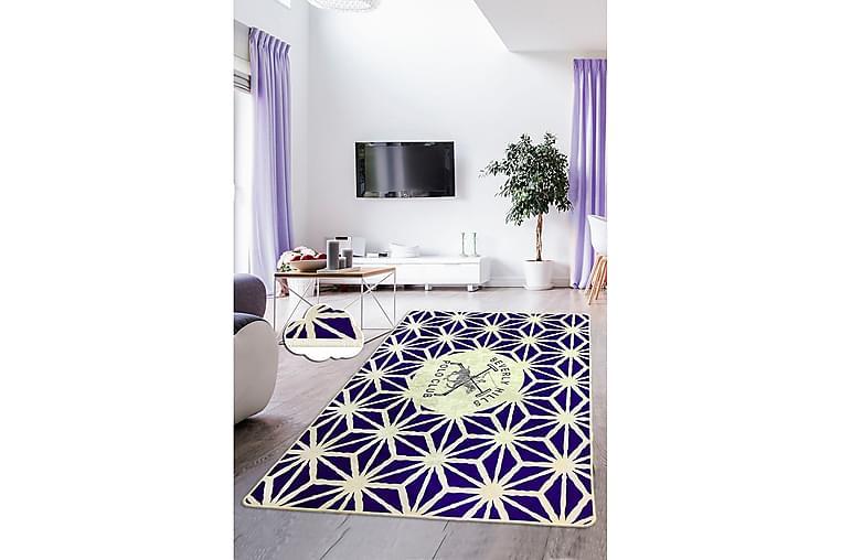 Matta Beverly Hills Polo Club 80x140 cm - Lila/Ecru - Inredning - Mattor - Små mattor