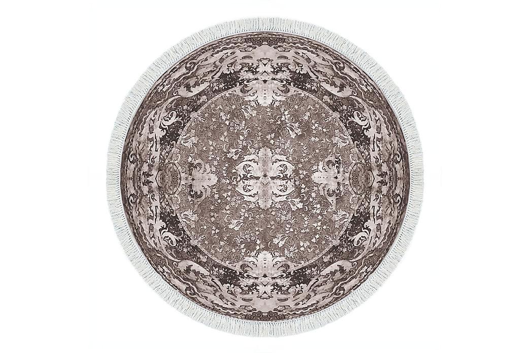 Matta Alanur Home 180 cm Rund - Brun/Cremevit - Inredning - Mattor - Stora mattor