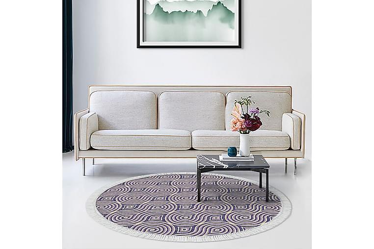 Matta Alanur Home 180 cm Rund - Lila/Beige - Inredning - Mattor - Stora mattor