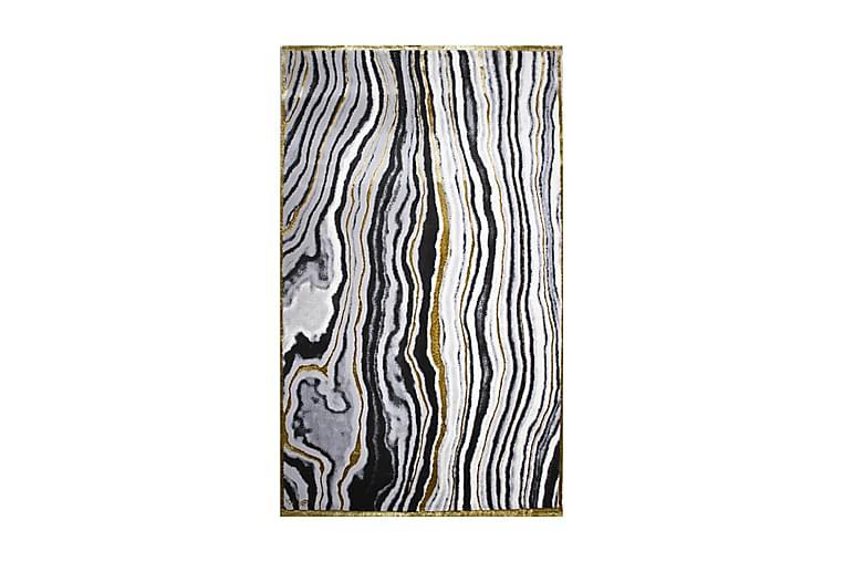 Matta Asaphe 200x290 cm - Vit/Svart/Grå/Guld - Inredning - Mattor - Stora mattor