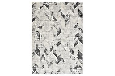 Matta grå och vit 140x200 cm PP