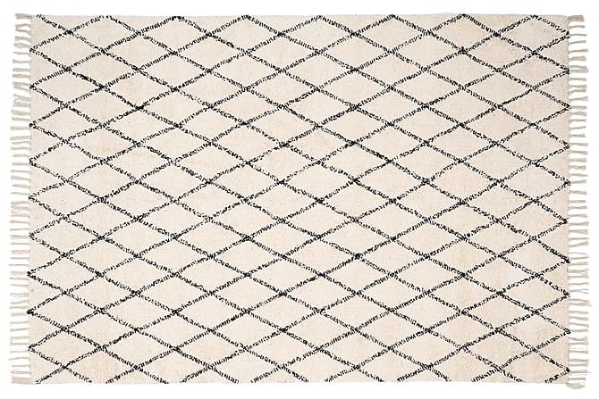 Matta Pinta 135x190 - Vit Svart - Inredning - Mattor - Stora mattor