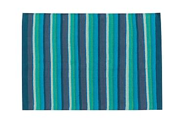 Bomullsmatta Strip 50x80 Turkos