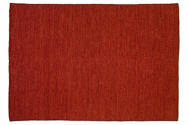 Ullmatta Eden Handvävd 160x160  Röd