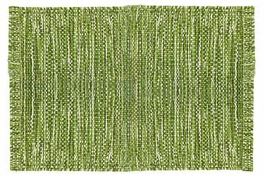 Ullmatta Eden Handvävd 160x230  Grön