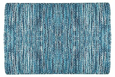 Ullmatta Eden Handvävd 75x200  Blå
