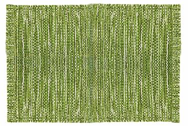 Ullmatta Eden Handvävd 75x200  Grön