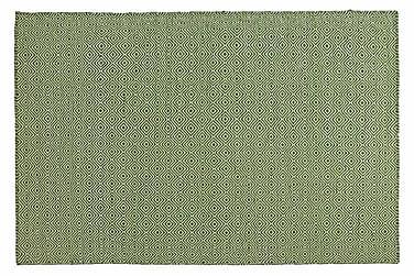 Ullmatta Orissa Handvävd 135x190  Grön