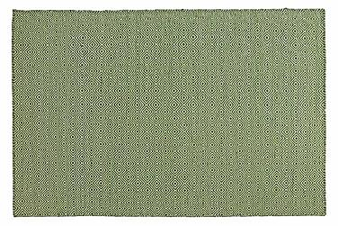 Ullmatta Orissa Handvävd 75x200  Grön