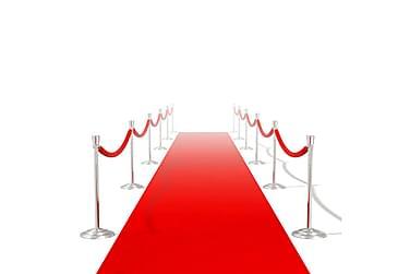 Röd matta 1 x 20 m extra tung 400 g/m2