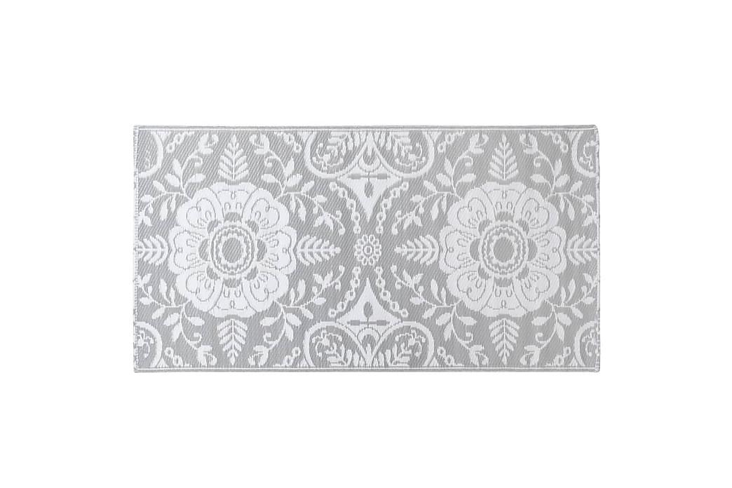 Utomhusmatta ljusgrå 160x230 cm PP - Inredning - Mattor - Utomhusmattor