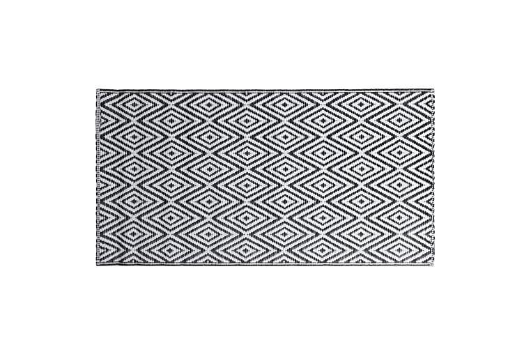Utomhusmatta vit och svart 160x230 cm PP - Inredning - Mattor - Utomhusmattor