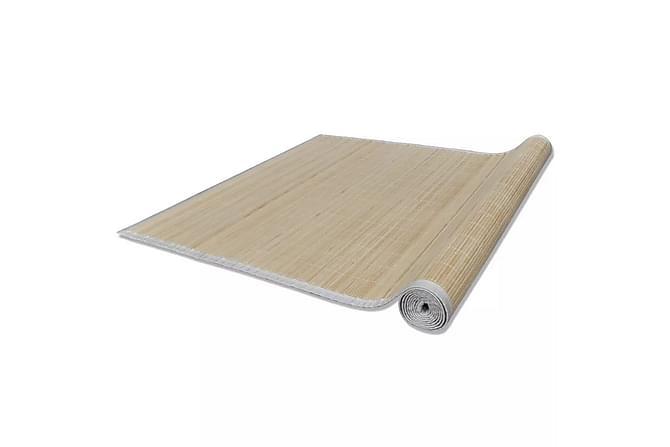 Fyrkantig Naturlig Bambumatta 120 x 180 cm - Natur - Inredning - Mattor