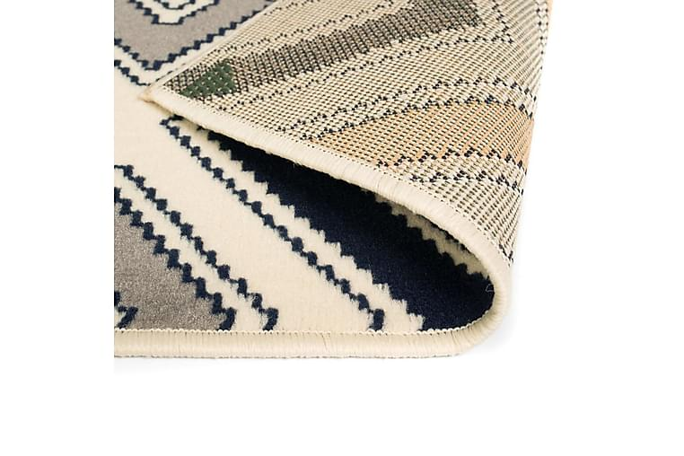 Modern matta sicksackdesign 160x230 cm brun/svart/blå - Flerfärgad - Inredning - Mattor