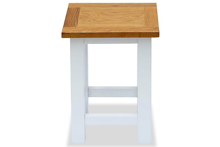 Sidobord 2 st 27x24x37 cm massiv ek - Vit - Inredning - Småmöbler - Brickbord & småbord