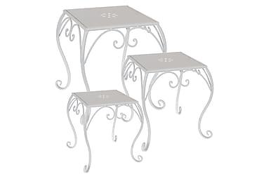 Småbord Fyrkantigta Metall Vit
