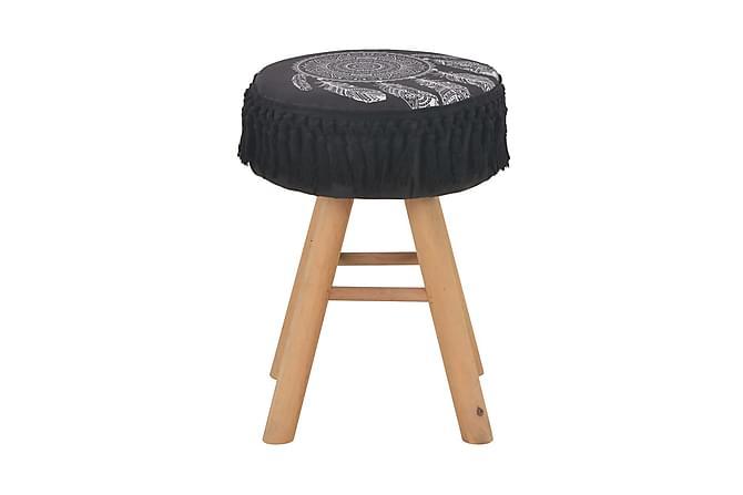Pall svart tyg - Svart - Inredning - Småmöbler - Pall