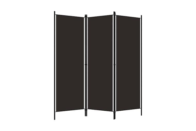 Rumsavdelare 3 paneler brun 150x180 cm - Brun - Inredning - Småmöbler - Rumsavdelare