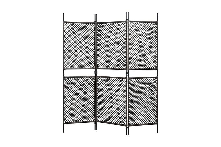 Rumsavdelare 3 paneler konstrotting brun 180x200 cm - Brun - Inredning - Småmöbler - Rumsavdelare