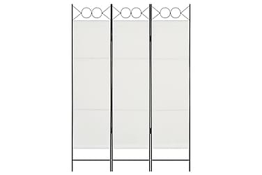 Rumsavdelare 3 paneler vit 120x180 cm