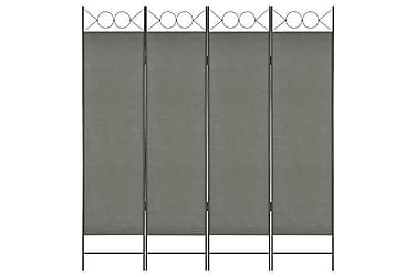 Rumsavdelare 4 paneler antracit 160x180 cm