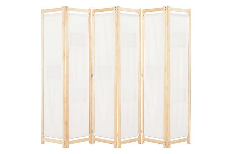 Rumsavdelare 6 paneler 240x170x4 cm gräddvit tyg - Kräm - Inredning - Småmöbler - Rumsavdelare