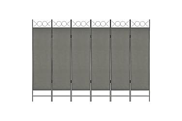 Rumsavdelare 6 paneler antracit 240x180 cm