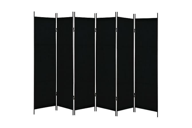 Rumsavdelare 6 paneler svart 300x180 cm - Svart - Inredning - Småmöbler - Rumsavdelare