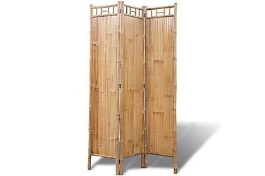 Rumsavdelare med 3 paneler bambu