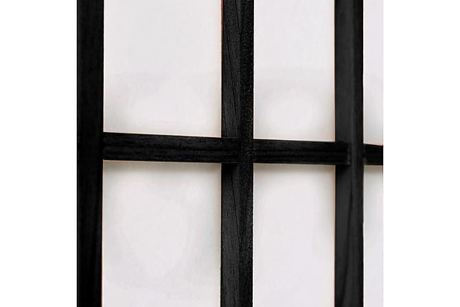 Rumsavdelare med 6 paneler japansk stil 240x170 cm svart - Svart - Inredning - Småmöbler - Rumsavdelare