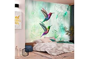 Fototapet Colourful Hummingbirds Green 100x70