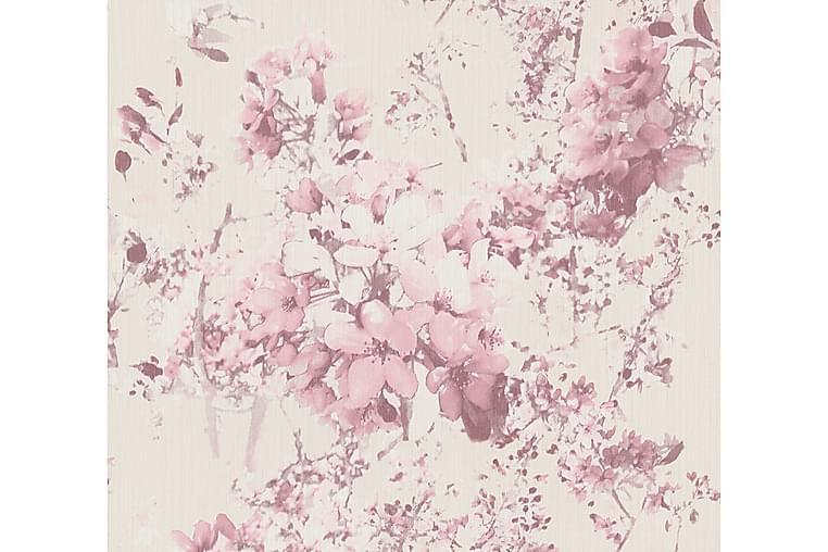 Blommig Tapet Attractive Ovävd Rosa - AS Creation - Inredning - Tapeter - Mönstrad tapet