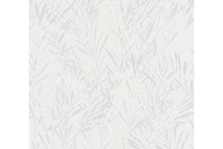 Blommig Tapet Flavour Ovävd Grå Vit - AS Creation - Inredning - Tapeter - Mönstrad tapet