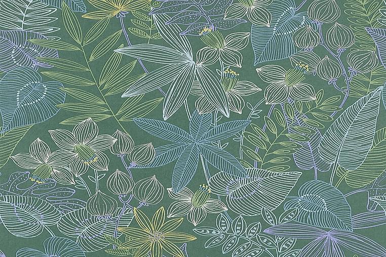 Jungle Tapet Colibri Ovävd Grön Blå - AS Creation - Inredning - Tapeter - Mönstrad tapet