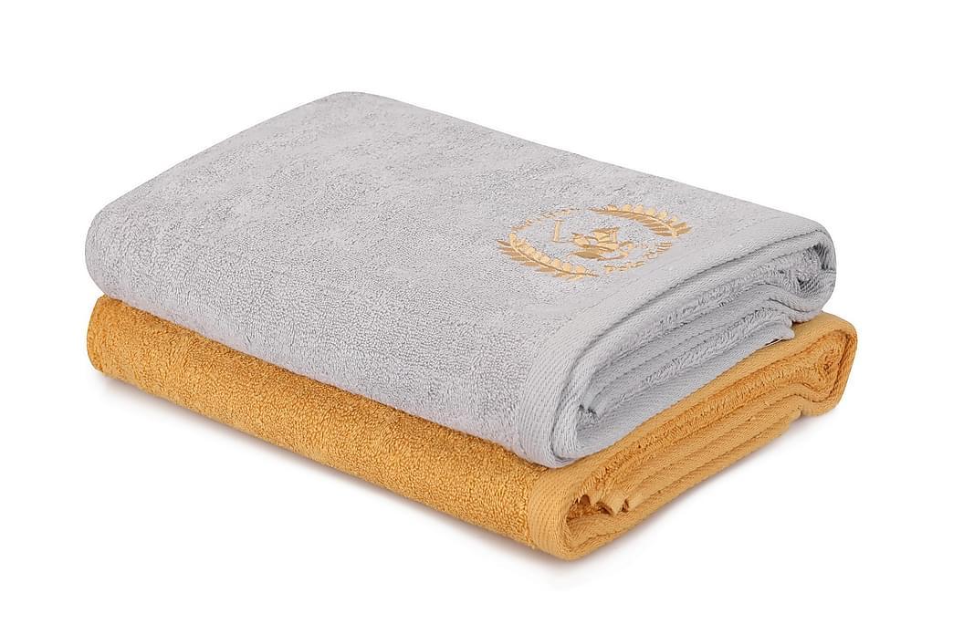 Badhandduk Romilla 2-pack - Gul/Ljusgrå - Inredning - Textilier - Badrumstextilier