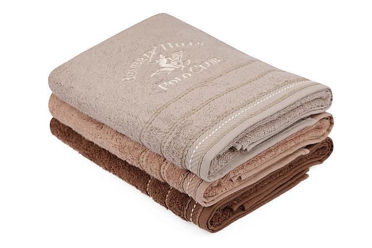 Badhandduk Romilla 3-pack - Brun - Inredning - Textilier - Badrumstextilier